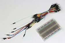 Breadboard (400 Tie Points)plus 65 Jumper Wires Bundle,Translucent-AVR,PIC Proto