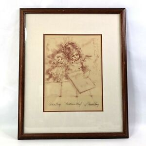 Connie King Artist Proof Bedtime Story Offset Lithograph Signed Authenticated