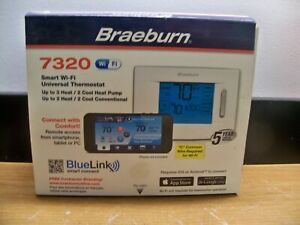 NEW BRAEBURN 7320 SMART CONNECT WI FI UNIVERSAL THERMOSTAT FOR BLUELINK SENSORS