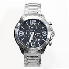 new + box FOSSIL men's Like Style Watch BQ2182 Steel Bracelet Black Face Chrono