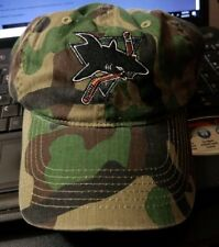 Worcester Sharks Season Tickets Holder Camo HAT men's OSFA strap back New