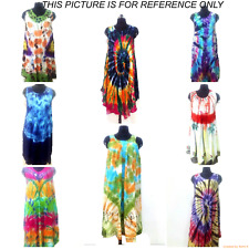 6 Pc Deal Lot Indian Multi Tie Dye Sundress Beach Wear Casual Tunic Dress