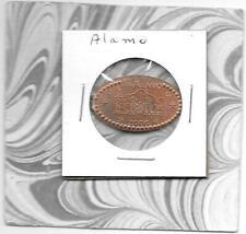 """The Alamo"" - Texas - Beautiful Elongated Pressed Smashed Penny 1c"
