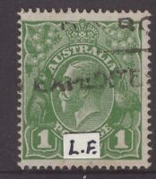 Australia 1d green KGV with annotation (s/crown)