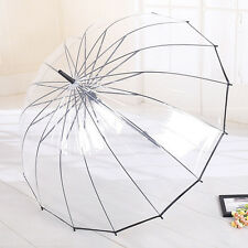 Self-Motion Open Straight Umbrella Transparent Dome Rain Automatic 16K Skeleton