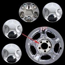 "1997-2004 Ford Expedition F150 17"" Chrome Wheel Center Hub Caps Lug Nut Covers"