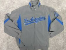 Los Angeles Dodgers Jacket L Majestic Therma Base Full-Zip Road Away On-Field