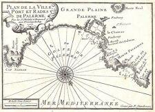 Antique map, Plan de la Ville, Port et Rades de Palerme