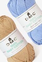 DMC Baby Cotton 50gr 100% gomitoli 106m cad. puro ferri 3,5 uncinetto 4 maglia