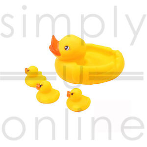 Yellow Bath time Toys Toy Squeaky Rubber Ducks Mum and BabiesFamily