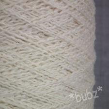 100% Pure cashmere Yarn 100 G Cône Crème main & machine à tricoter 3 plis Filigrane Sertissage