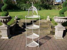 Coin Bakers rack blanc antique Etagere 4 niveaux rack support étagères Plant stand