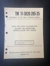 Guide Radio Transmitter Modulator Md-203/Gr 1960 Reprint Tm 11-5820-205-35