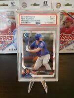 2018 Bowman Prospects Chrome BCP137 Pete Alonso Mets PSA 9 Mint