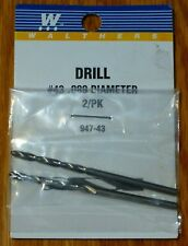 Walthers #947-43 Drill Bit (2 pack) #43 .089 Diameter
