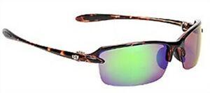 Strike King SG-SKP31 Tortoise Shell Frame Revo Green Lens Sunglasses Fishing
