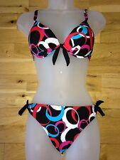 Retro bikini multi new ladies womens pool swimming costume holiday beach