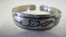 Russian Soviet Dagestan 875 silver bangle bracelet Caucasus vintage Дагестан