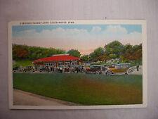Vintage Postcard Cherokee Tourist Camp W/ Streetcar Chattanooga Tennessee Unused