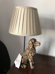 Flynn The Dog Animal Desk Table Bedside Lamp Resin Driftwood Effect New With Lab