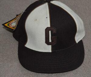 NWT Homestead Grays Negro League Fitted Baseball Cap Hat Roman Pro 6 7/8
