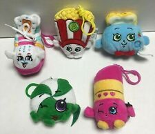 2 NEW Factory Sealed Shopkins Plush Hangers Mystery Clip On Blind Bags Series 2