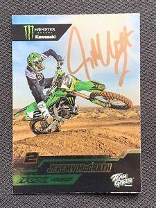 JEREMY McGRATH Autographed PROMO Monster Energy SUPERCROSS Card
