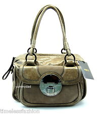 MIMCO STAND OFF ZIP TOP LEATHER BAG IN CEMENT LIGHT GREY STANDOFF BNWT $399