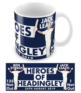 Ben Stokes & Jack Leach Mug Heroes of Headingley England Cricket Australia Ashes