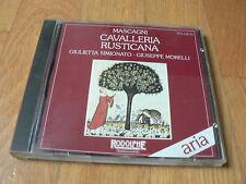 Mascagni : Cavalleria Rusticana - Simionato, Morelli - Tokyo 1961 - CD Rodolphe