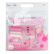 *SALE* Dovecraft Goody Bag - PINK - Papers Cards/Envelopes Buttons Gems Flowers