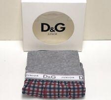 D&G New Boys Kids 2PC PAJAMA GIFT SET: GREY w/ PLAID Sz: 10 RTL $135 P601 L4D500