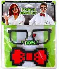 Pixel-8 Nerd Kit Bow Tie Glasses Pocket Protector Halloween Costume Accessory