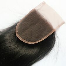 100% Brazilian Virgin Remy Human Hair straight Lace Closure Top Closure 4x4''