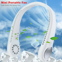 2 In 1 Mini Portable USB Rechargeable Neck Fan Air Cooler Conditioner Electric
