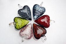 Wholesale Lots 6pcs Love Heart Lampwork Glass Handmade Pendant Fit Necklace Gift