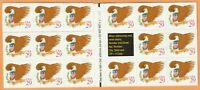 Scott #2597 Eagle & Shield Red Lettering Postage Stamp Pane of17-29 cent MNH