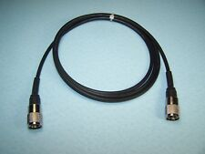 RG-58A/U COAX CABLE JUMPER 6 FT SEALED PL-259s PROFESSIONALLY MADE CB HAM RADIO