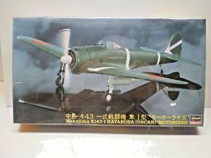 Hasegawa 1/48 Nakajima Ki43-I HAYABUSA (OSCAR) 'Motorized' #SP244 MINT/SEALED