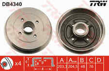 TRW Rear Brake Drum DB4340 - BRAND NEW - GENUINE - 5 YEAR WARRANTY