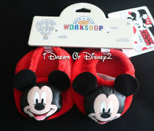 NEW Build-A-Bear MICKEY MOUSE RED SLIPPERS HOUSE SHOES Disney Teddy Clothes