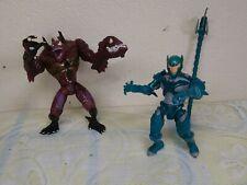 Marvel Toy Biz Deep Sea Venom Spider-Man and  scorpion poison blast Figure