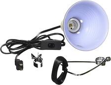 New listing Reptile Lizard Pet Lamp Terrarium Heat Light Base Fixture Clamp Uv Switch 5.5In