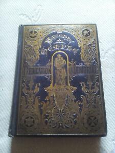 1873 Dedication Memorial of the New Masonic Temple, Philadelphia Freimaurer Buch