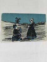 Vintage Series 3500 DUTCH SCENES Postcard Dutch Boy & Girl From Bessie 1907