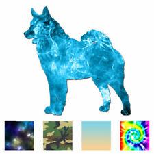 Norwegian Elkhound Dog - Decal Sticker - Multiple Patterns & Sizes - ebn1985