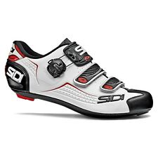 SIDI ALBA Road Cycling Shoes Bike Cleat Shoes White/Black/Red Size EUR 39-46