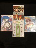 Nintendo Wii Bundle Lot (4). Wii Fit / Just Dance 3 / Just Dance Kids/ Sing It