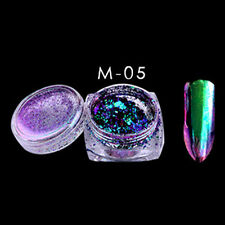 6 Colors 2g/Box Glitter Magic Mirror Chrome Effect Dust Shimmer Nail Art Powder
