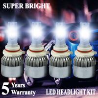 2 Pairs 9005 + 9006 LED Headlight Fog Lights Combo High Low Beam 3600W 540000LM